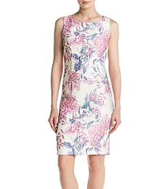 Ivanka Trump® Printed Textured Sheath Dress