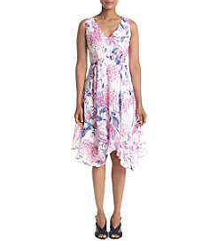Ivanka Trump® Printed Asymmetrical Hem Dress