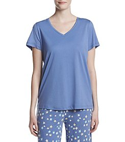 HUE® V-neck Pajama Top