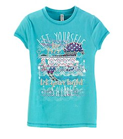 Beautees Girls' 7-16 Short Sleeve Crewneck Horse Tee