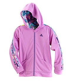 adidas® Girls' 7-20 Hooded Tricot Jacket