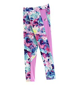 adidas® Girls' 3T-20 Ink Camouflage Leggings