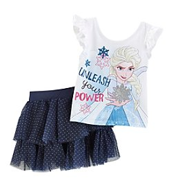 Disney® Girls' 2T-6X Frozen Tulle Skirt Set