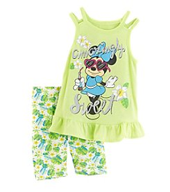 Disney® Girls' 2T-6X Minnie Mouse® Bike Shorts Set