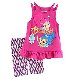 Nannette® Girls' 4-6X Shimmer And Shine Tank And Shorts Set