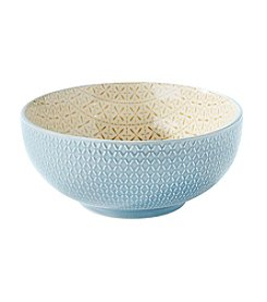 Pfaltzgraff® Printed Turquoise And Honey Serving Bowl