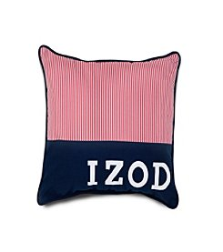 IZOD Red Pinstripe Decorative Pillow