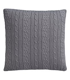 IZOD Cable Knit Quiet Shade Square Decorative Pillow