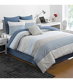IZOD® Chambray Stripe Comforter Set