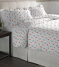 Pointehaven Owl Cotton Flannel Duvet Set