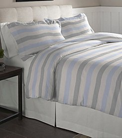 Pointehaven Savannah Cotton Flannel Duvet Set