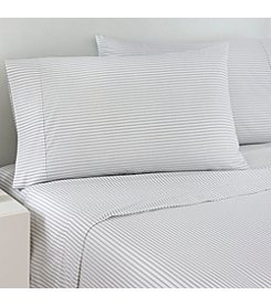 IZOD Gray Ticking Stripe Sheet Set