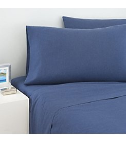 IZOD Navy Cross Dyed Sheet Set