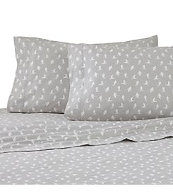 IZOD Skiers Gray Flannel Sheet Set
