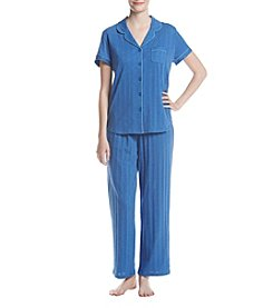KN Karen Neuburger Solid Knit Pajama Set