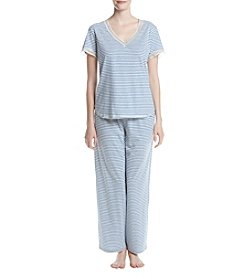 KN Karen Neuburger Stripe Knit Pajama Set