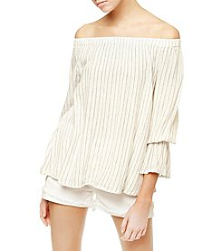 Sanctuary® Off-Shoulder Stripe Peasant Top