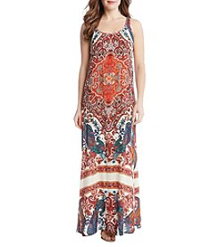 Karen Kane® Paisley Side Slit Maxi Dress