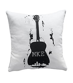 Draw String MKE Guitar Decorative Pillow