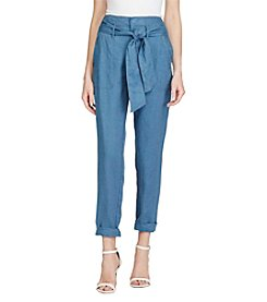 Lauren Ralph Lauren® Linen High-Rise Pants