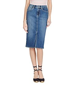 Lauren Ralph Lauren® Stretch Denim Pencil Skirt