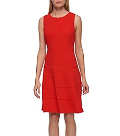 Tommy Hilfiger® Ribbed Scuba Dress