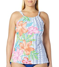 Beach House® Plus Size Blair High Neck Tankini Top