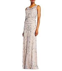 Adrianna Papell® Blouson V-Neck Beaded Gown
