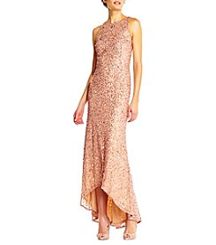 Adrianna Papell® Halter High-Low Beaded Gown