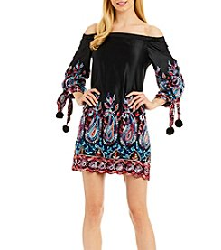 Nicole Miller New York™ Off-The-Shoulder Tie Dress