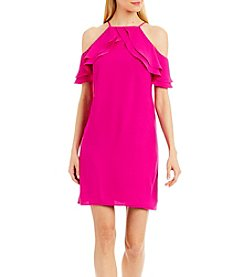 Nicole Miller New York™ Halter Ruffle A Line Dress