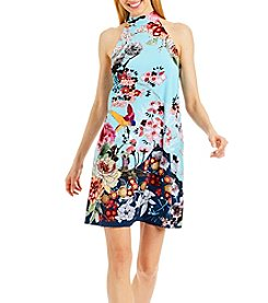 Nicole Miller New York™ Mockneck Back Bow Dress