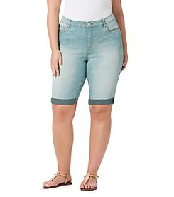 Bandolino® Plus Size Riley Denim Bermuda Shorts