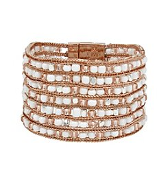 Kenneth Cole® Woven Mixed Bead Bracelet