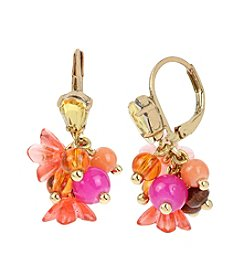 Betsey Johnson® Mixed Beaded Cluster Drop Earrings