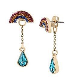 Betsey Johnson® Pave Rainbow & Stone Earrings