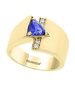 Effy® 14K Yellow Gold Tanzanite And Diamond Accent Ring