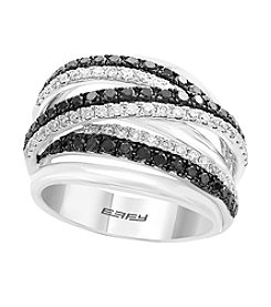 Effy® 14K White Gold And .97 ct. t.w. Black Diamond Ring