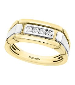 Effy® Men's Two Tone 14K Gold with 0.20 ct. t.w. Diamond Ring