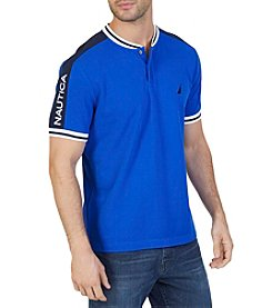 Nautica® Men's Short Sleeve Racer Polo Shirt