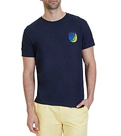 Nautica® Men's Short Sleeve Circle Crew Neck Tee