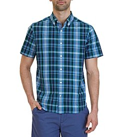 Nautica® Men's Short Sleeve Plaid Button Down Shirt