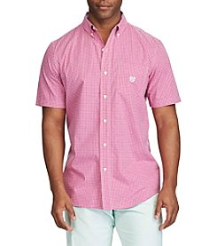 Chaps® Men's Short Sleeve Button Down Tattersall Shirt
