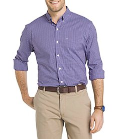 Izod® Men's Big & Tall Long Sleeve Button Down Gingham Shirt