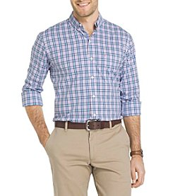 IZOD® Men's Big & Tall Long Sleeve Plaid Button Down Shirt
