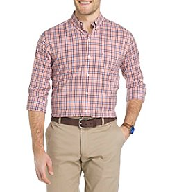 Izod® Men's Big & Tall Long Sleeve Button Down Plaid Shirt