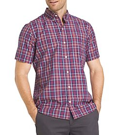 Izod® Men's Big & Tall Short Sleeve Button Down Plaid Shirt