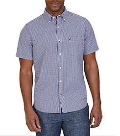 Nautica® Men's Short Sleeve Tattersall Button Down Shirt