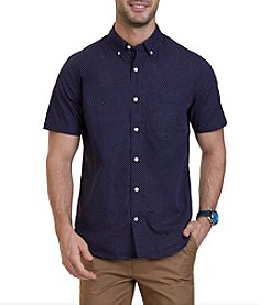 Nautica® Men's Short Sleeve Dot Print Down Shirt