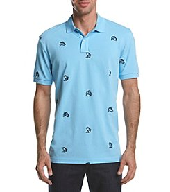 Chaps® Men's Big & Tall Men's Sea Bass Embroidered Polo